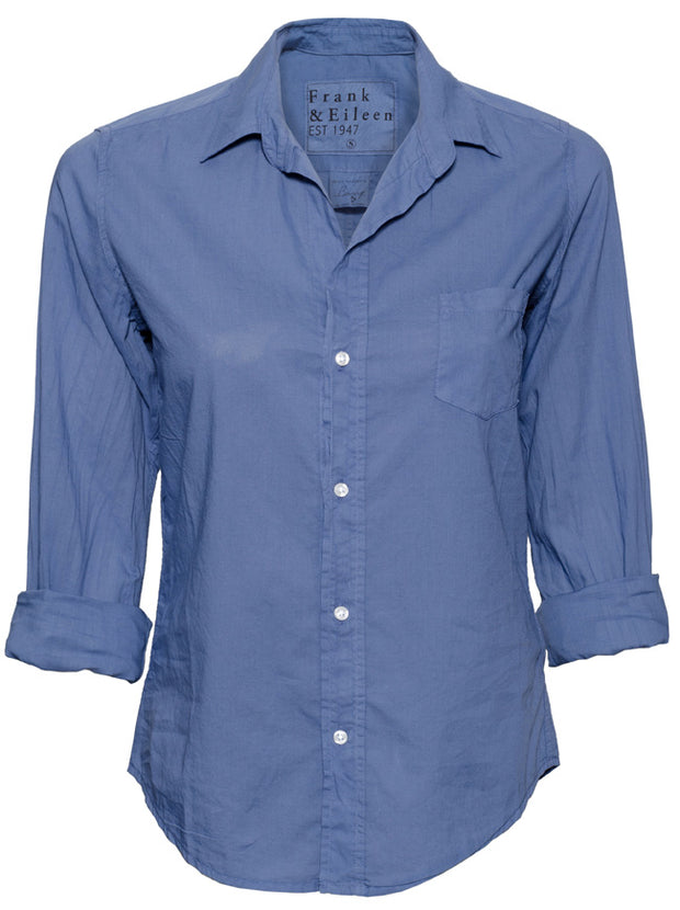 The Barry Light Poplin Shirt - Sea Blue