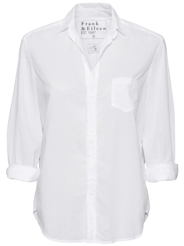 Eileen Light Poplin Cotton Shirt - White