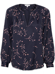 Allea Floral Top - Midnight