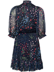 Shima Floral Dress - Midnight