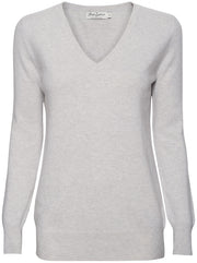 The Weekend V-Neck Cashmere Sweater - Light Grey
