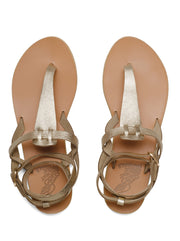 Estia Leather Sandal - Platinum Sand