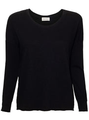 Sonoma Relaxed Fit Long Sleeve Cotton T-Shirt - Black