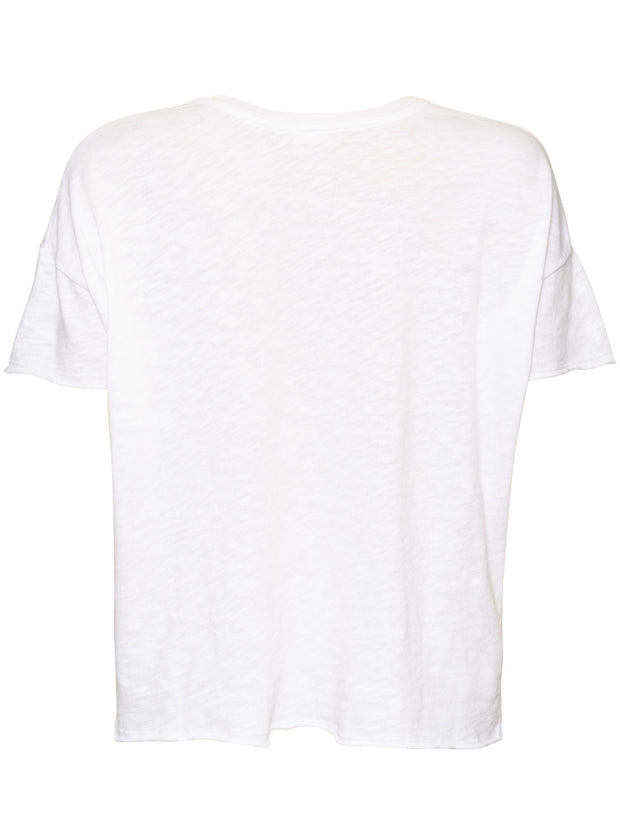 Sonoma Relaxed Fit Cotton T-Shirt - White