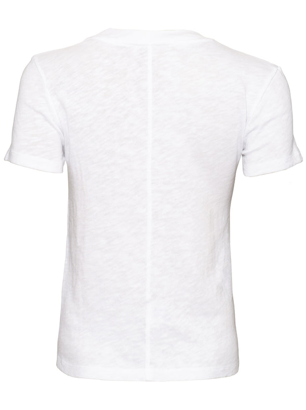 Sonoma Fitted Cotton T-Shirt - White