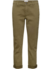 The Confidant Cotton-Blend Pant - Clean Army