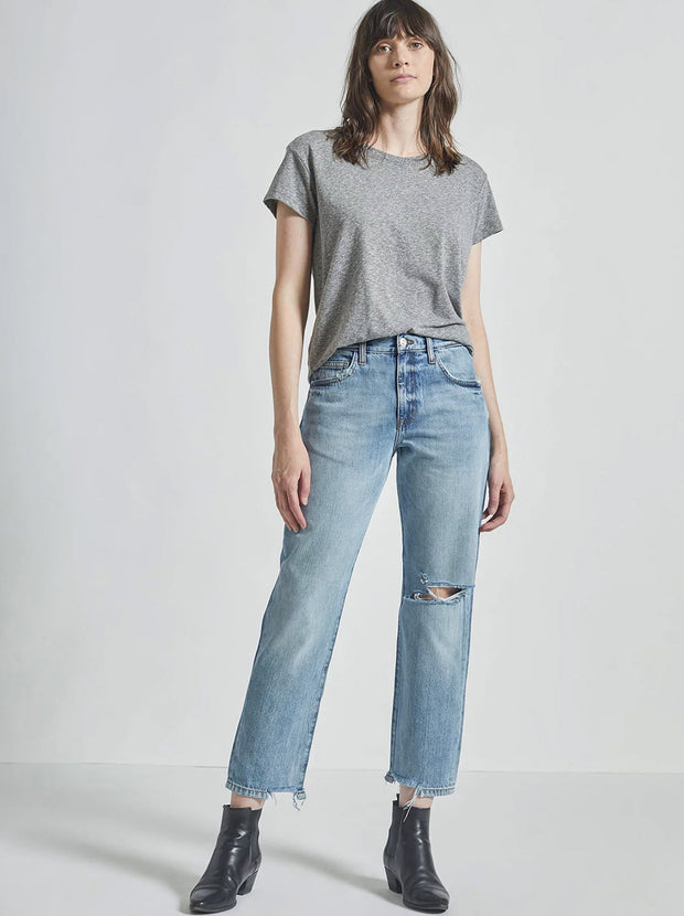 The Original Ankle Boyfriend Jean - Prim Destroy Snipped Hem