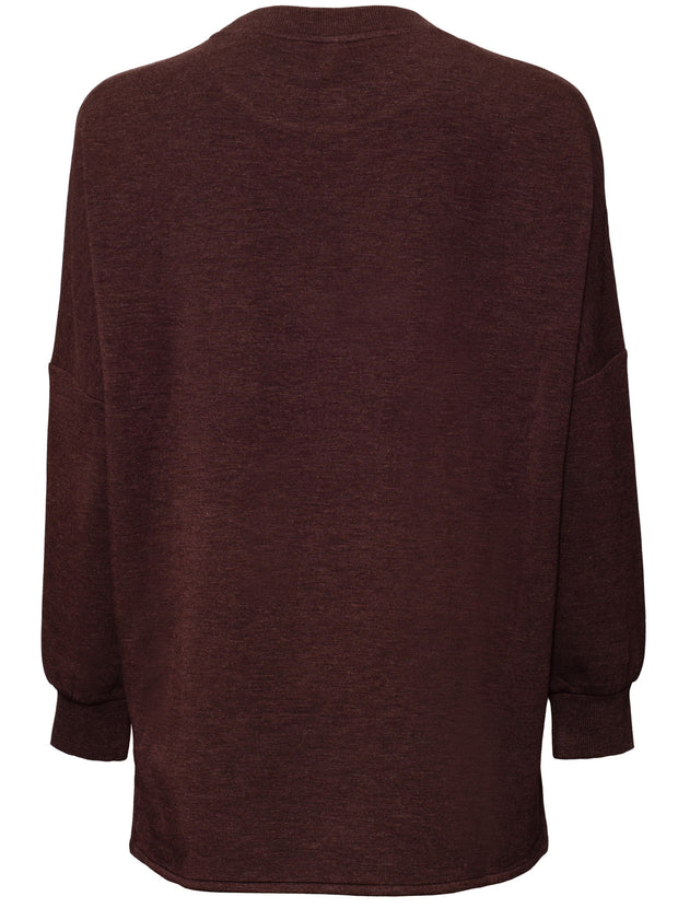 Bayliss Sweat Top - Chocolate Heather