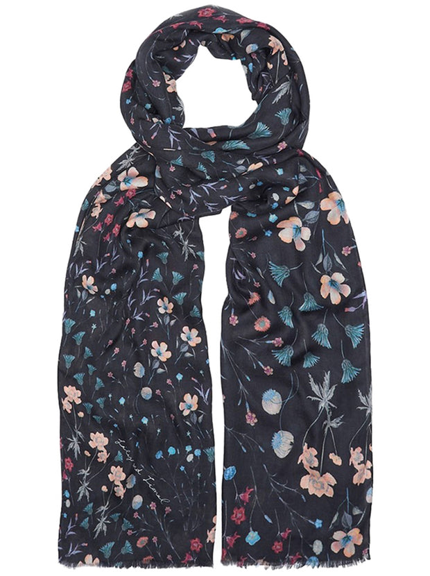 Night Garden Scarf - Black