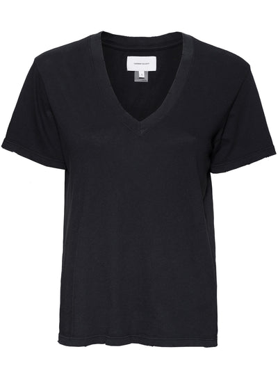 The Perfect V-neck Cotton Tee - Dark Navy