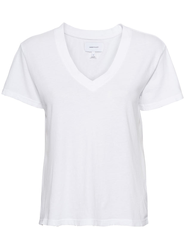The Perfect V-neck Cotton Tee - White