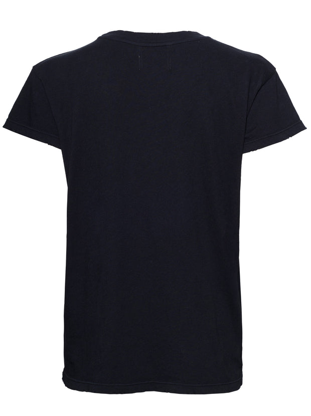 The Relaxed Crew Neck Cotton Tee - Caviar