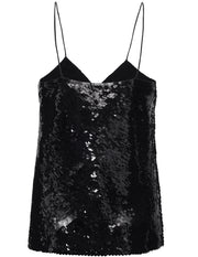Erna Sequin Cami - Black