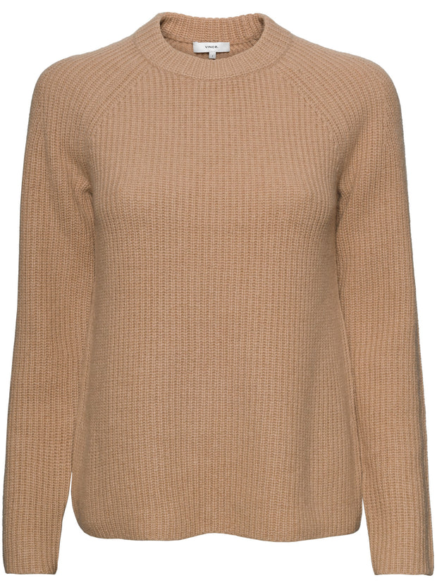 Shaker Rib Pullover - Heather Camel