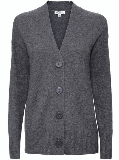 Elder Cashmere Cardigan - Heather Grey