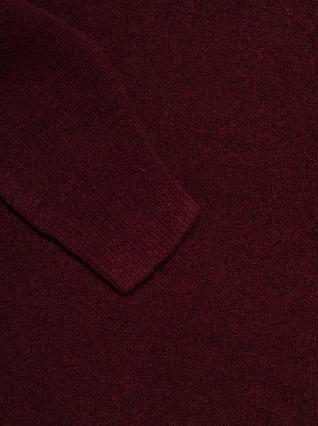 Moya Wool-Blend Sweater - Plum