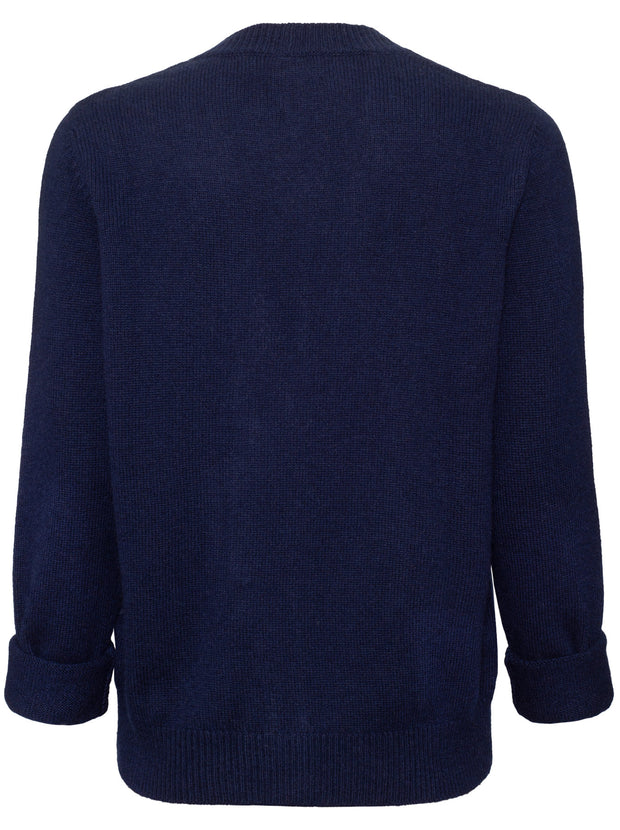 The Boxy Cashmere Cardigan - Navy