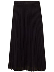 Delphine Pleated Skirt - Black