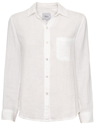 Ellis Double Gauze Cotton Shirt - White