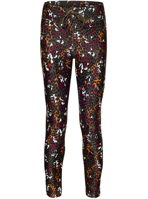 Animal Midi 7/8 Length Leggings - Black/Multi
