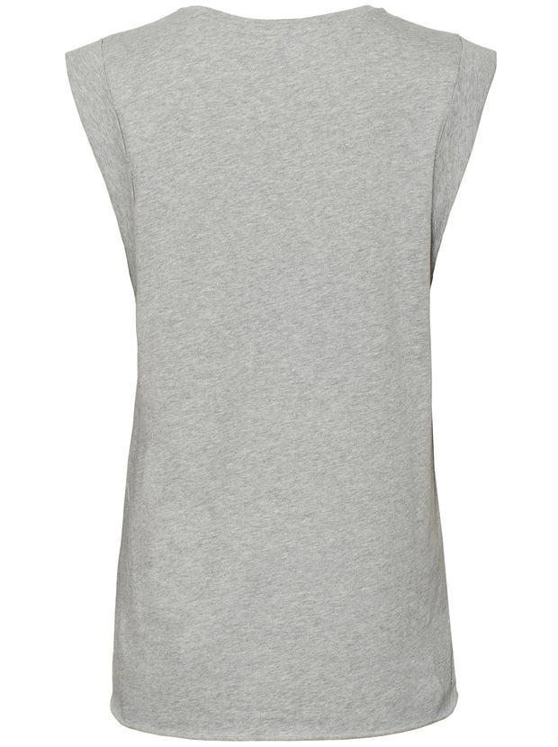 Muscle Horseshoe Organic Cotton Tank - Grey/Marle