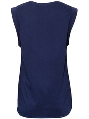Muscle Horseshoe Organic Cotton Tank - Navy