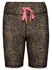 Leopard High-Rise Spin Shorts - Black