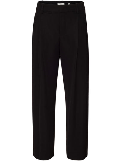 Wide Leg Japanese Crepe Trouser - Black