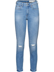 Nina High-Rise Ankle Skinny - Colville with Holes