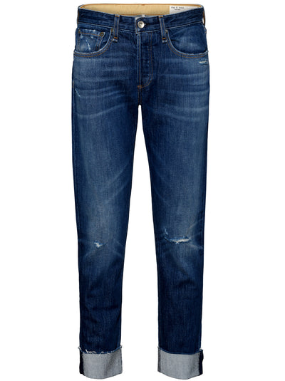 The Rosa Mid-Rise Slim Boyfriend Jean - Wyatt with Holes