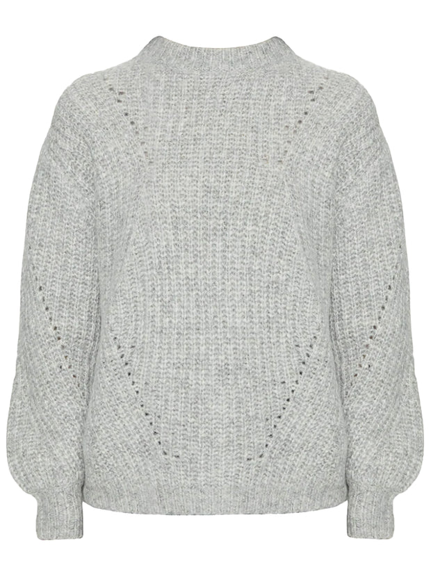 Jolie Alpaca-Blend Sweater - Heather Grey