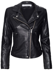 Newhan Leather Jacket - Black