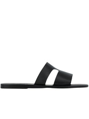 Apteros Leather Sandal - Black