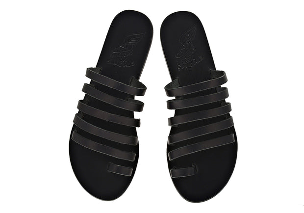 Niki Leather Sandal - Black