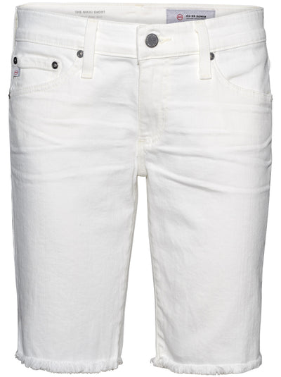 Nikki Denim Shorts - 1 Year Tonal White