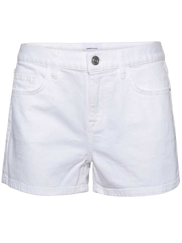 The Boyfriend Denim Shorts - White