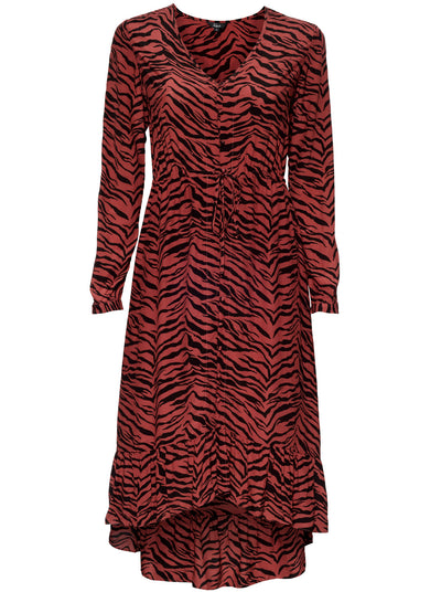 Jade Dress - Rust Tiger Stripe