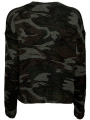 Perci Wool-Blend Sweater - Jungle Camo