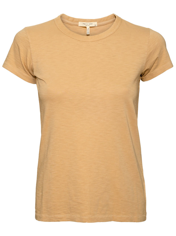 The Slub Crew Neck Tee - Soft Brown