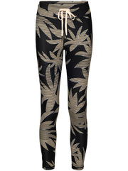 Palm Midi Leggings - White Palm