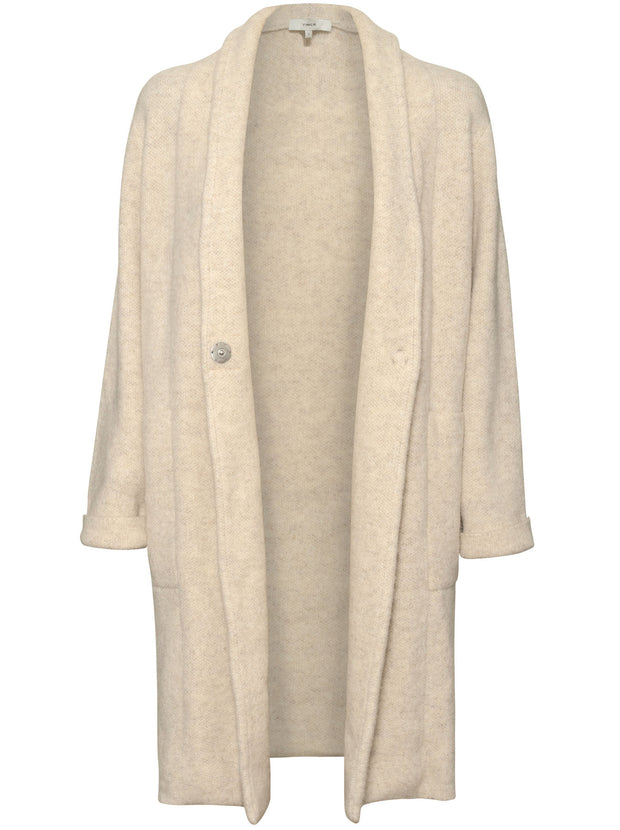 Boucle Cardigan Coat - Heather Taupe