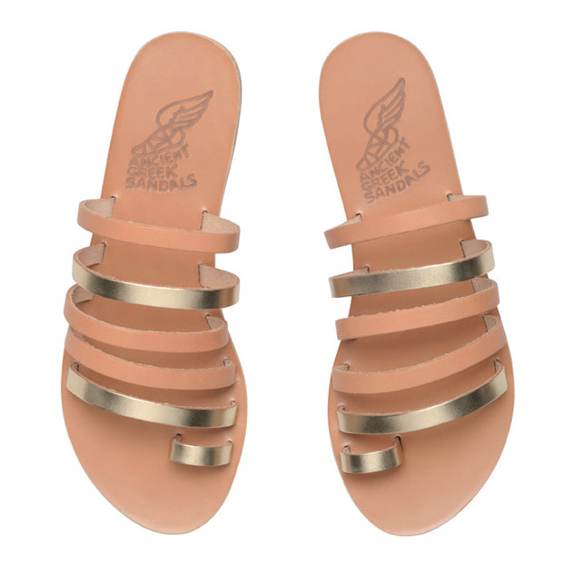 Niki Leather Sandal - Natural/Platinum