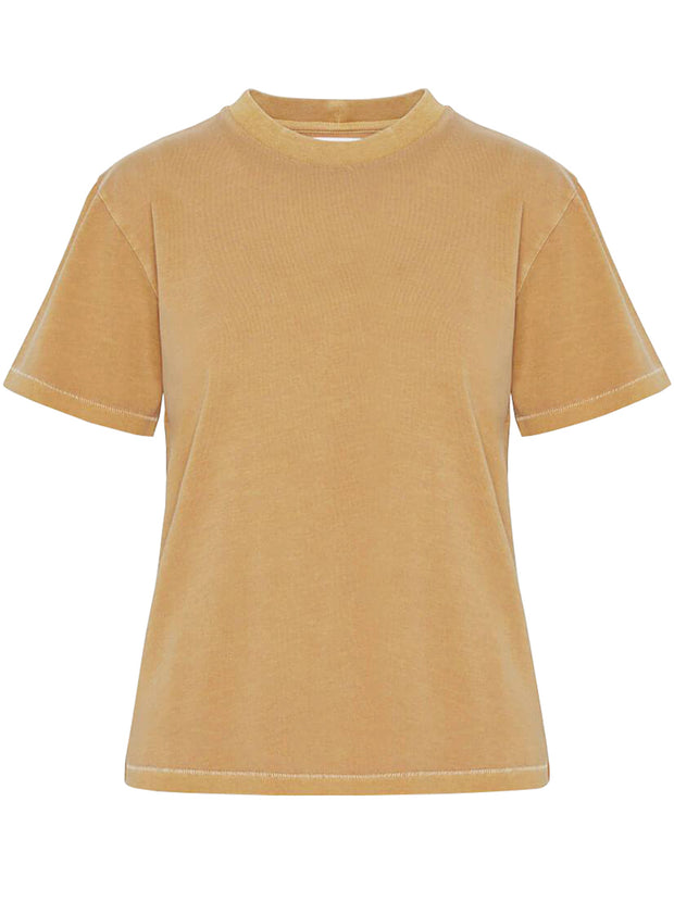 Hudson Cotton T-Shirt - Mustard