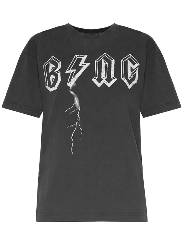 Bing Bolt Cotton T-Shirt - Black