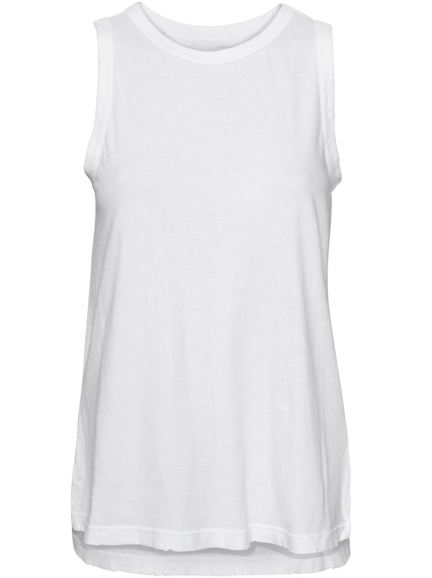 The Muscle Tank - White