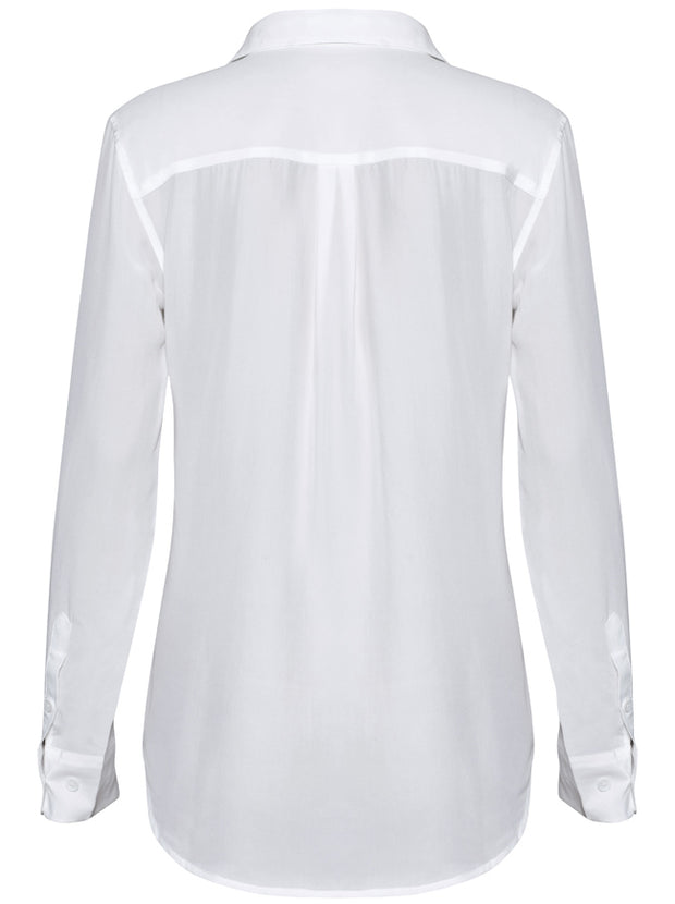 Slim Signature Silk Shirt - Bright White