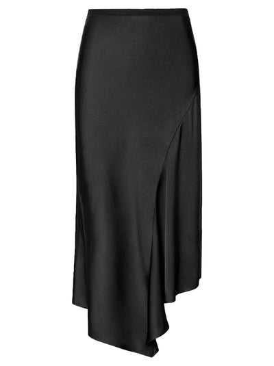Bailey Silk Skirt - Black