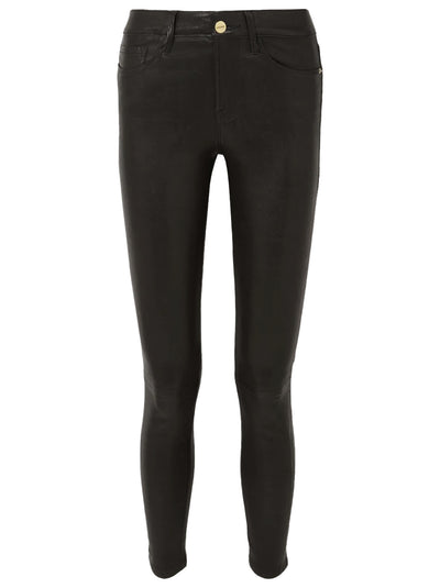 Le Skinny Mid-Rise Leather Trousers - Black