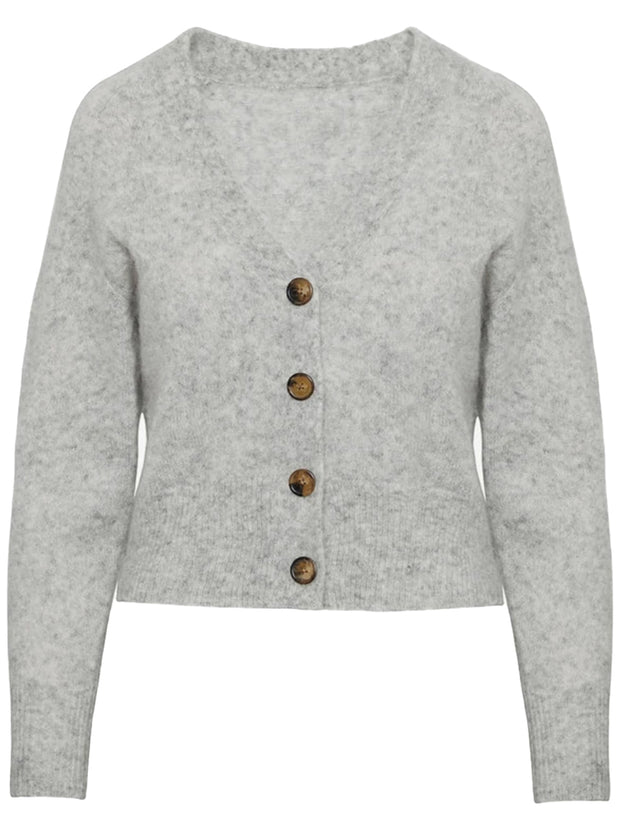 Mason Knitted Cardigan - Heather Grey