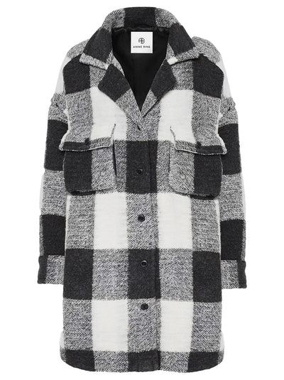 Maeve Wool-blend Jacket - Cream Buffalo Check